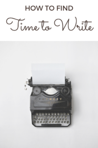 How to find time to write when you work full-time