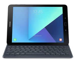 Samsung Galaxy Tablet with a Bluetooth Keyboard