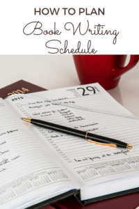 How to plan out your book writing schedule